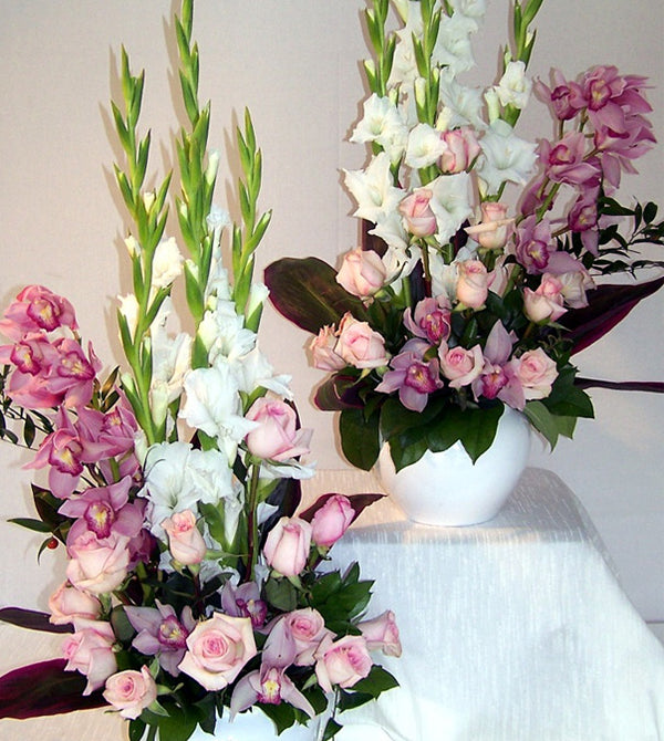Roses and Orchids Tribute Flowers by David Jeffrey Florist