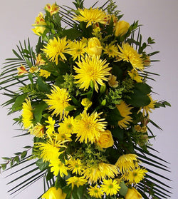 Standing Spray Yellow Flowers