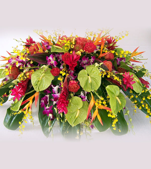 Tropical Flowers for Casket