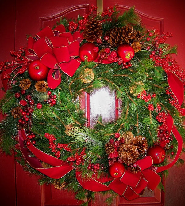 David Jeffrey's Red Christmas Wreath