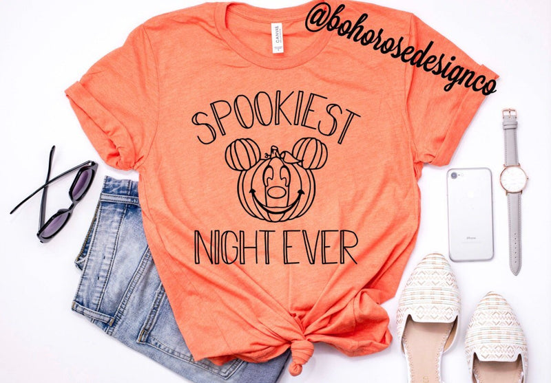 Spookiest Night Ever- Mickeys Not so scary Halloween party shirt- Boo Crew shirt- Disney halloween shirt- cute Halloween shirt