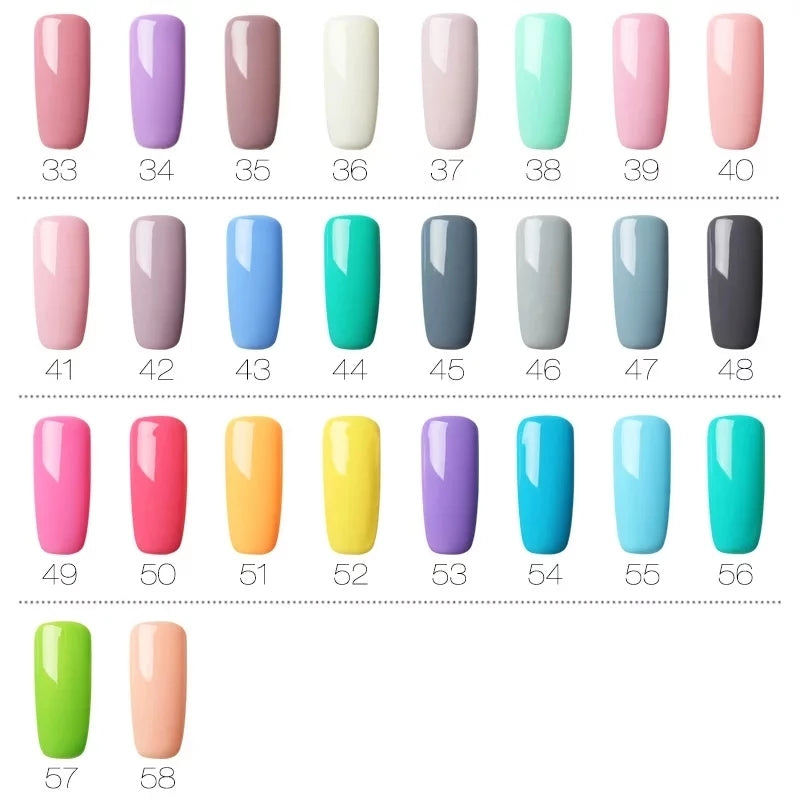 Free Shipping Worldwide _ Gel Polish Set All For Manicure Semi Permanent Vernis top coat UV LED Gel Varnish Soak Off Nail Art Gel Nail Polish