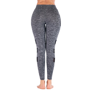 FREE SHIPPING _ 2019 Sexy Women Leggings Pocket Patchwork Design Trousers Pants Big Size Black Capris Sportswear New Fitness Leggings