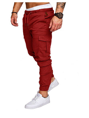 FREE SHIPPING _ Brand Men Pants Hip Hop Harem Joggers Pants 2018 Male Trousers Mens Joggers Solid Multi-Pocket Ten Colors Pants Sweatpants M-4XL