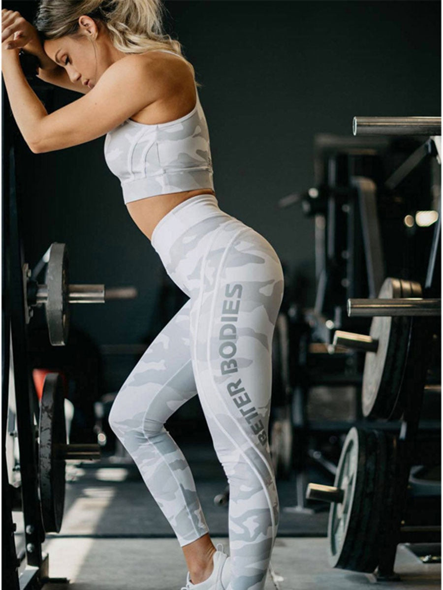 FREE SHIPPING _Sports Leggings Women Gym Clothing Fitness High Waist Elastic Leggings Yoga Pants Women Printed Slim Summer 2018 New