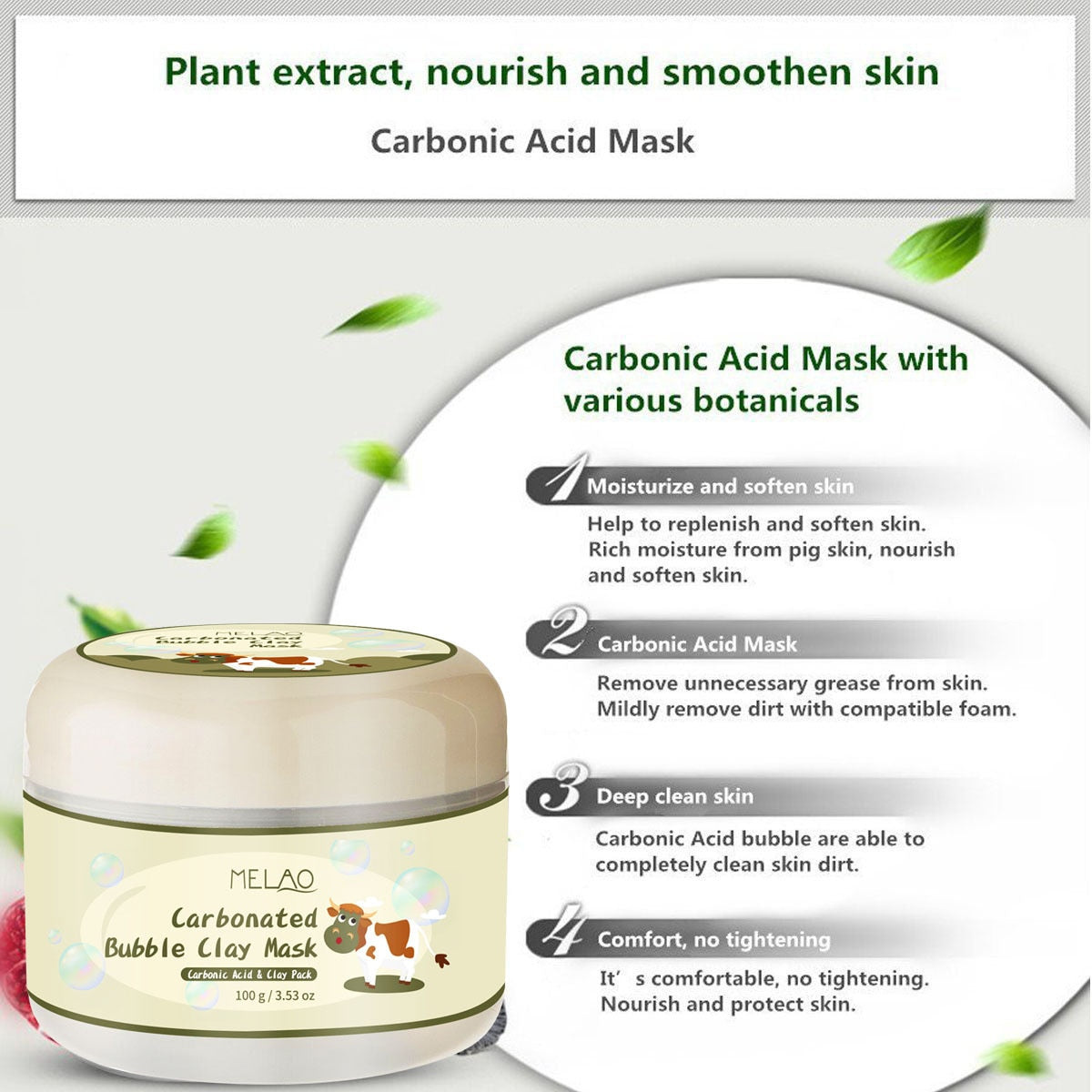 FREE SHIPPING _ Carbonated Bubble Clay Mask Winter Deep Cleaning Moisturizing Skin Care stickers cleansing blackheads remover cosmetics anti