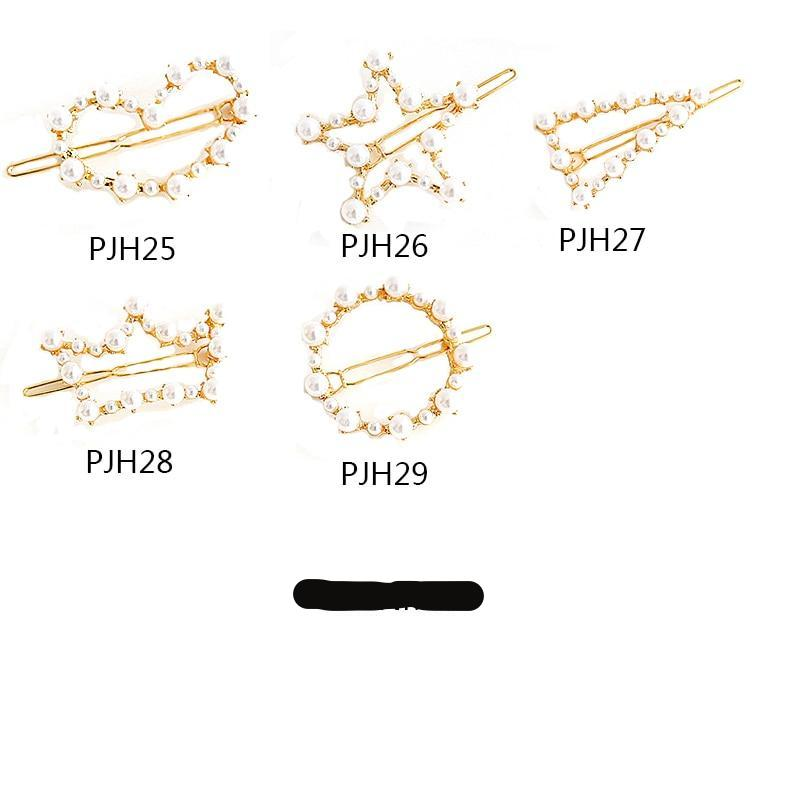 Woman Hair Accessories Triangle Hair Clip Pin Geometric Alloy fashion Pearl Rhinestone Hairpins Girl Accessories