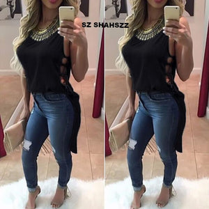 FREE SHIPPING _World fashion high quality ladies blouse Womens Casual Chiffon Vest Top Sleeveless Blouse Tank Tops Blouse Shirt M 17