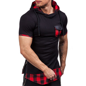 FREE SHIPPING _ Sweatshirts Men 2019 NEW Hoodies Male Short Sleeve Spring Autumn Men's Cotton Solid Hoodie Plus Size Plaid Hoodies