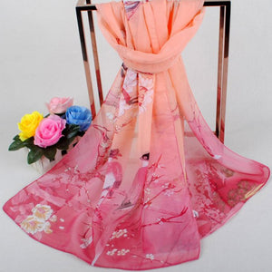 FREE GIFT GIVEAWAYS _ ONLY PAY SHIPPING $9,99_ Fashion Women Scarves Soft Wraps Printed Soft Chiffon Shawl Wrap Scarf Breathable Chiffon Scarves Exquisite Shawls Elastic Wrap