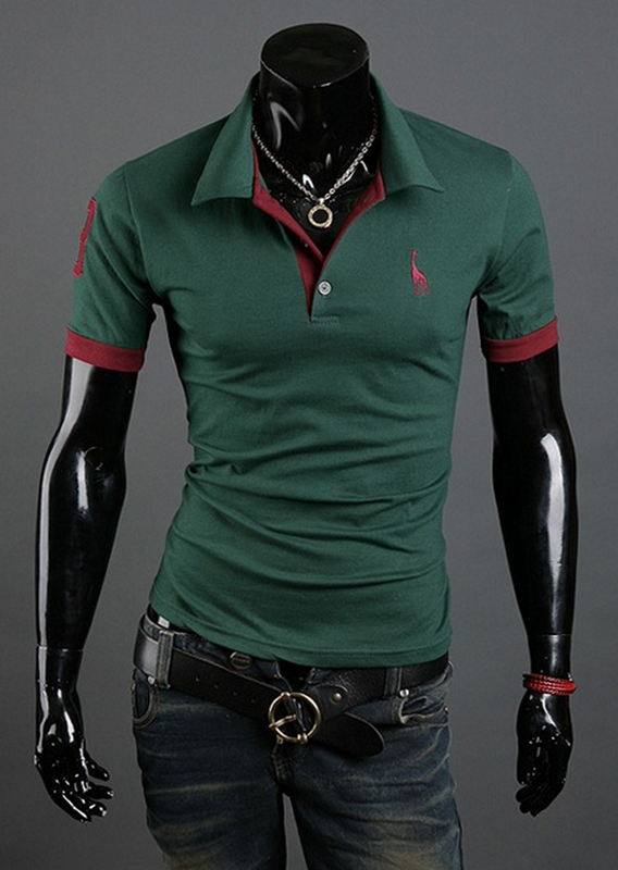FREE SHIPPING _ Mens Polo Shirt Brands 2017 Male Short Sleeve Fashion Casual Slim Deer Embroidery Printing Men Polos XXXL