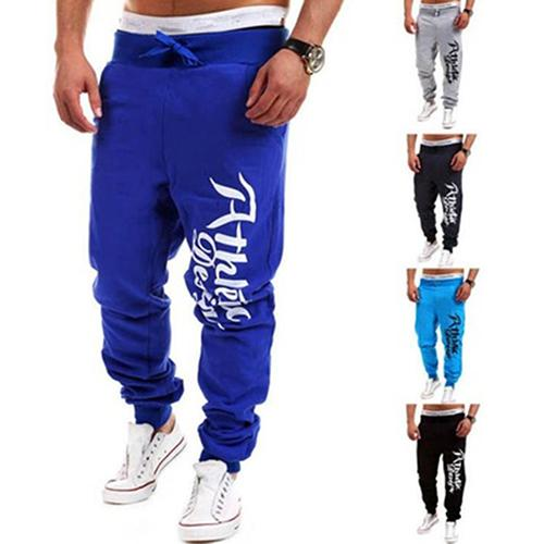 Fashion Men Letter Print Loose Casual Hip-Hop Sports Sweatpants Trousers