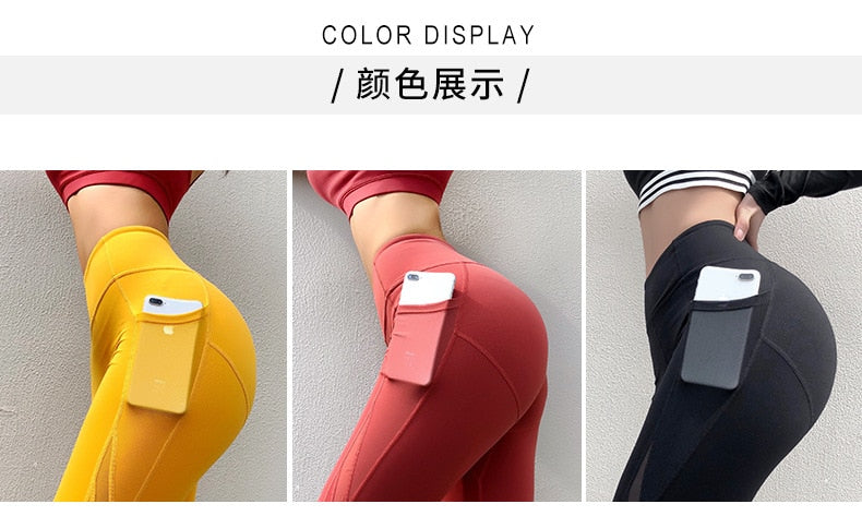 FREE SHIPPING _ 2019 New Hot Spring Summer Push Up Yoga Pants Tummy Control Elasticity Casual Leggins Sport Women Fitness With Pocket Legging