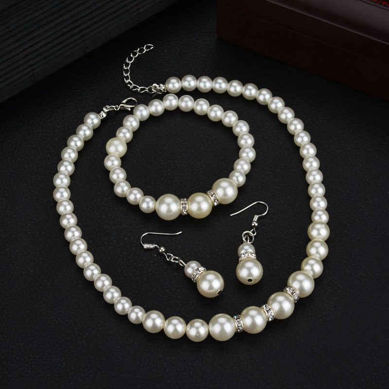 jewelry fashion classic personality wild imitation pearl necklace bride suit wholesale Jewelry Sets