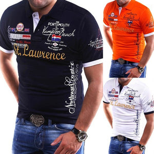 Brand New Mens Shirt Slim Fit Short Sleeve Shirt fashion printed cotton casual male shirts men clothing