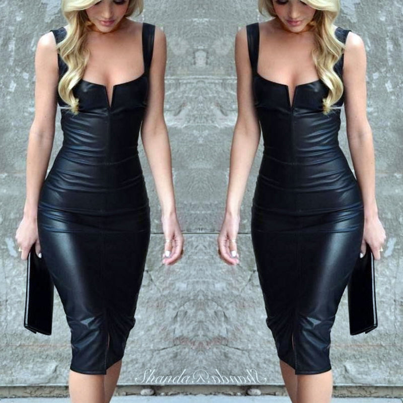 Summer Fashion Women Bandage Dress Ladies Sleeveless Black Short Dress Fashion Women Clothing