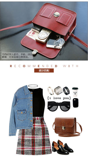 New Korean Version The Small Square Women Bag Fashion Handbags Retro Shoulder Bag Messenger Bag Mobile Phone Bag