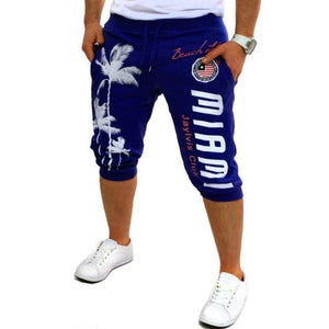FREE SHIPPING _ Summer Men Knee Length Shorts Color Patchwork Joggers Short Sweatpants Trousers Men Bermuda Shorts Roupa Masculina