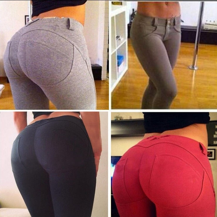 Women Low Waist Leggings Push Up Ankle Length Fitness Leggings Fashion Workout Female Elastic Silm Jeggings Leggins _ FREE SHIPPING WORLDWIDE