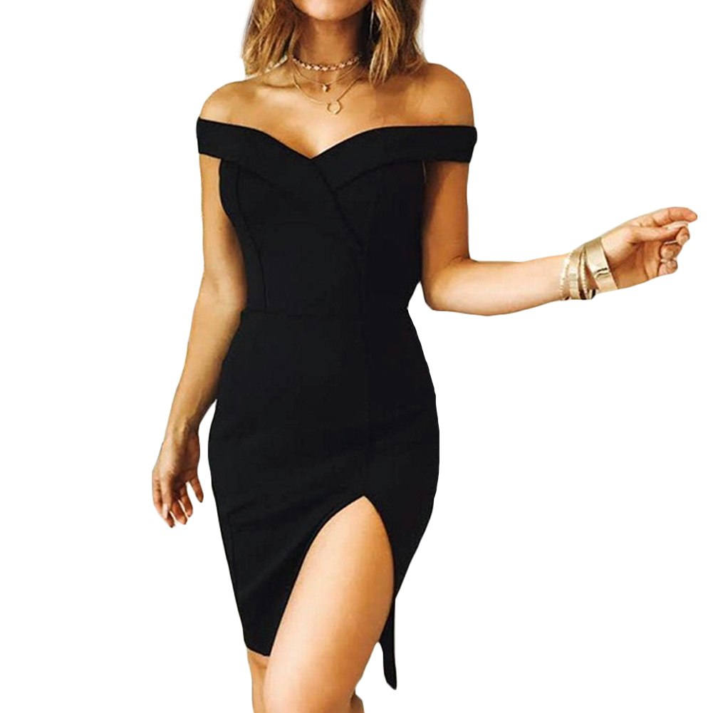Women Autumn Dress 2017 Winter Black Red Off Shoulder Backless Tunic Party Dress Sexy Robe Femme Bodycon Bandage Dress