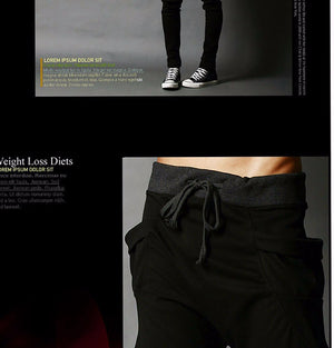 Casual Men Pants Unique Big Pocket Hip Hop Harem Pants Quality Outwear Sweatpants Casual Mens Joggers