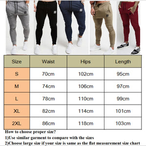 Mens Harem Long Pant Jogger Sweatpants Workout Trousers Men Slim Fitness Sweat Pants