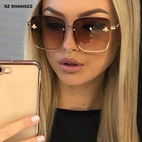 FREE SHIPPING _ Oversize Square Sunglasses Men Women Celebrity Sun Glasses Male Driving Superstar Luxury Brand Designer Female Shades UV400