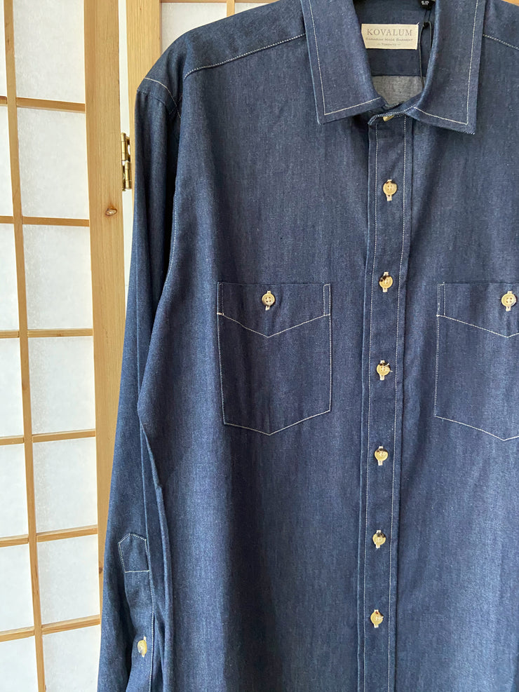 Kovalum Dark Navy Denim Buttondown