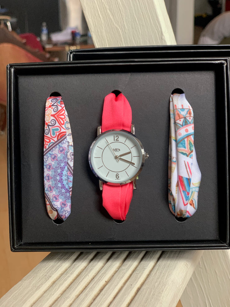 Women's Satin Band and Watch Set