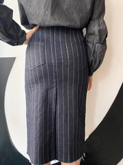 Susanne Bommer Pin Striped Skirt