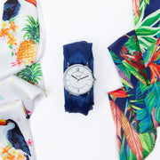 Women's Satin Band and Watch Tropical Set