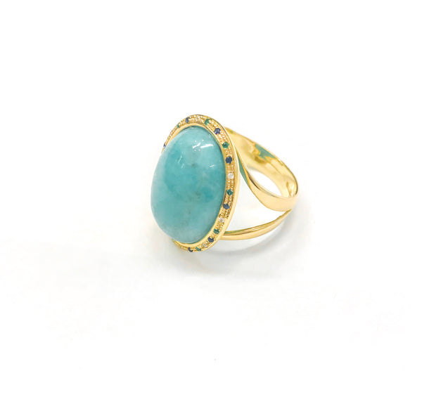 Gem Ring - Amazonite