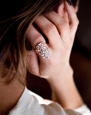 Diamond Baguette Starburst Ring