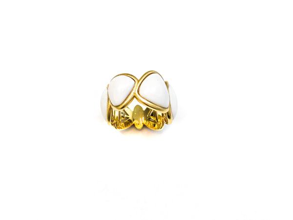 Agate Stone Gold Ring
