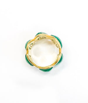 Gem Ring - Green Onyx