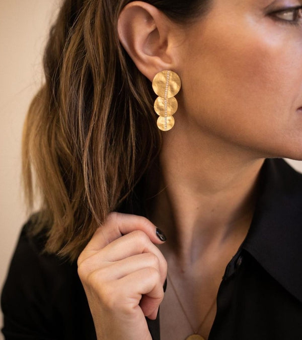 Large Disc Earrings