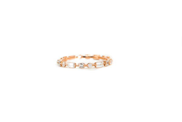 Diamond Space Band - Rose Gold
