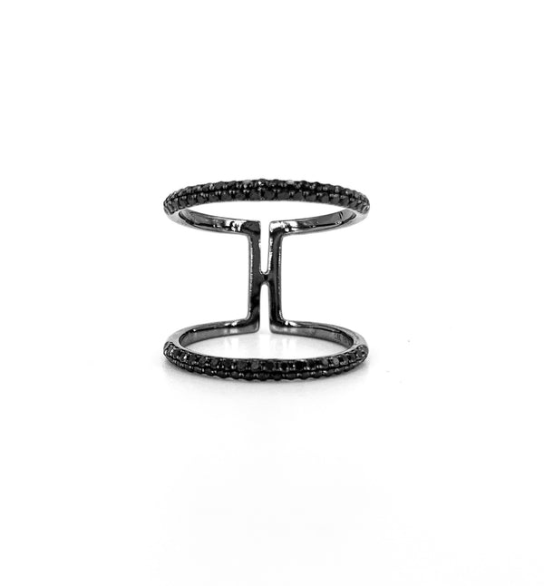 Black Rhodium Ring