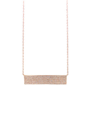 Diamond Pave Plate Necklace