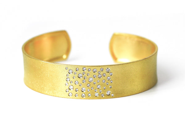 Cuff Bangle Bracelet Scattered Diamonds