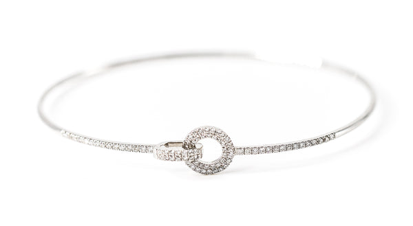 Toggle Diamond Bangle