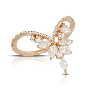 The Wreath Ring- in white gold