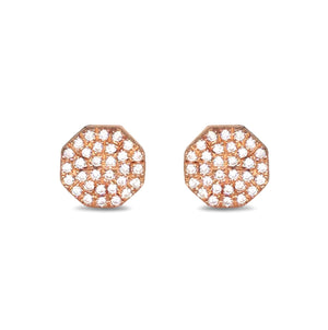 Diamond Hexagon Stud Earring