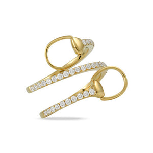Equestrian Gold Diamond Ring