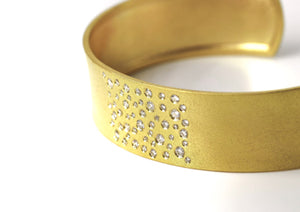 Cuff Bangle Bracelet Diamonds