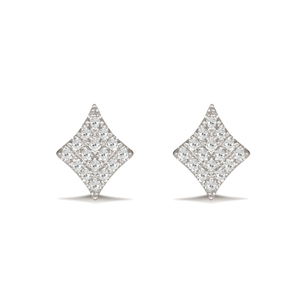 Diamond Kite Shape Stud Earring