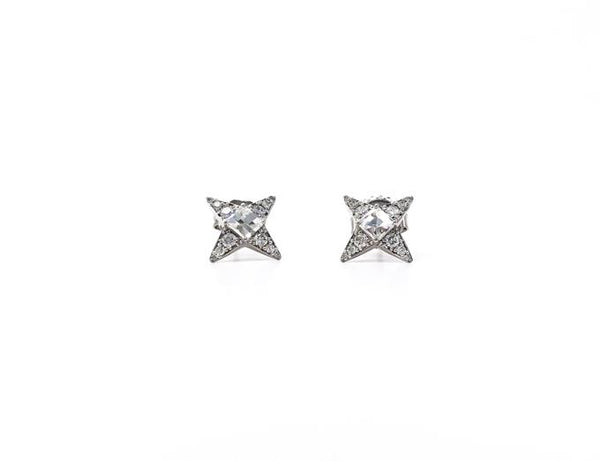 Flash Diamond Stud Earrings