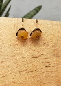 Insouciant Studios Persimmon Earrings Carnelian