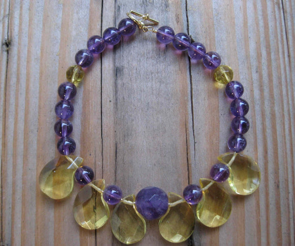 Insouciant Studios Exotics Collection Harem Bracelet Citrine and Amethyst