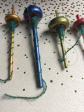 Bottom Whorl Glitter Drop Spindle Decoration